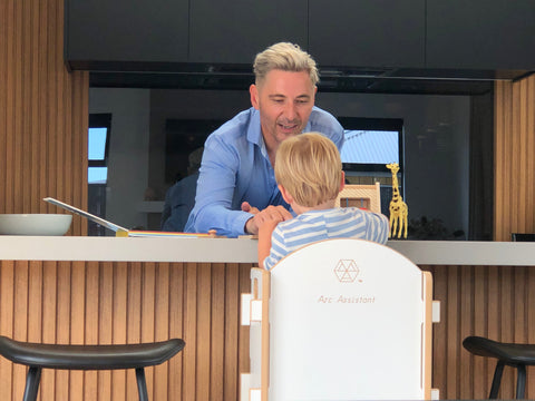 Nathan Wallis Using the Arc Assistant with his grandchild