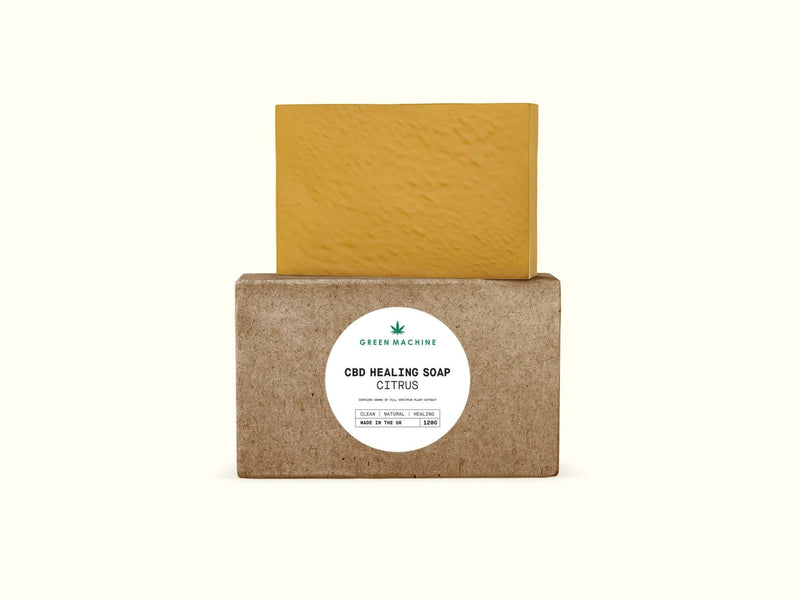 Green Machine CBD Healing Soap 500mg - Green Machine CBD