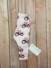Load image into Gallery viewer, Tractor baby pants, toddler pants, pink tractors, country girl