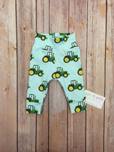 Load image into Gallery viewer, Tractor baby pants, toddler pants, green tractors, farm baby