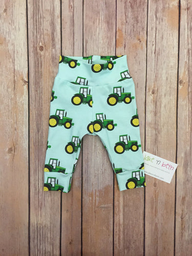 Tractor baby pants, toddler pants, green tractors, farm baby