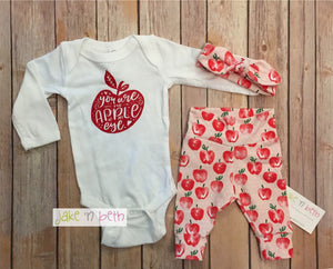 Baby girl set, pants, headband and bodysuit set, girl coming home set, baby shower gift