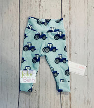 Load image into Gallery viewer, Tractor baby pants, toddler pants, blue tractors, farm baby