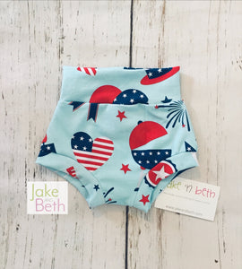 July 4th baby bummies, toddler bummies