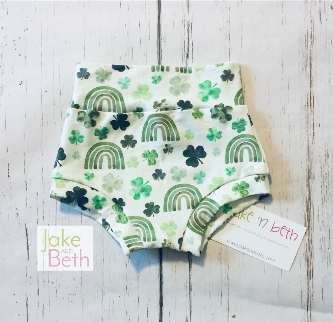 St Patrick's Day baby bummies, toddler bummies