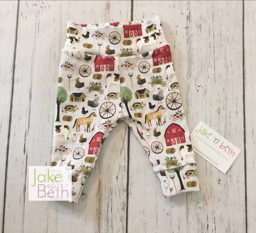 Farm baby pants, toddler pants, farm baby