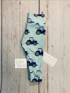Tractor baby pants, toddler pants, blue tractors, farm baby