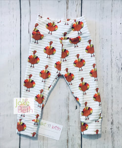 Thanksgiving baby pants, toddler pants, fall leggings