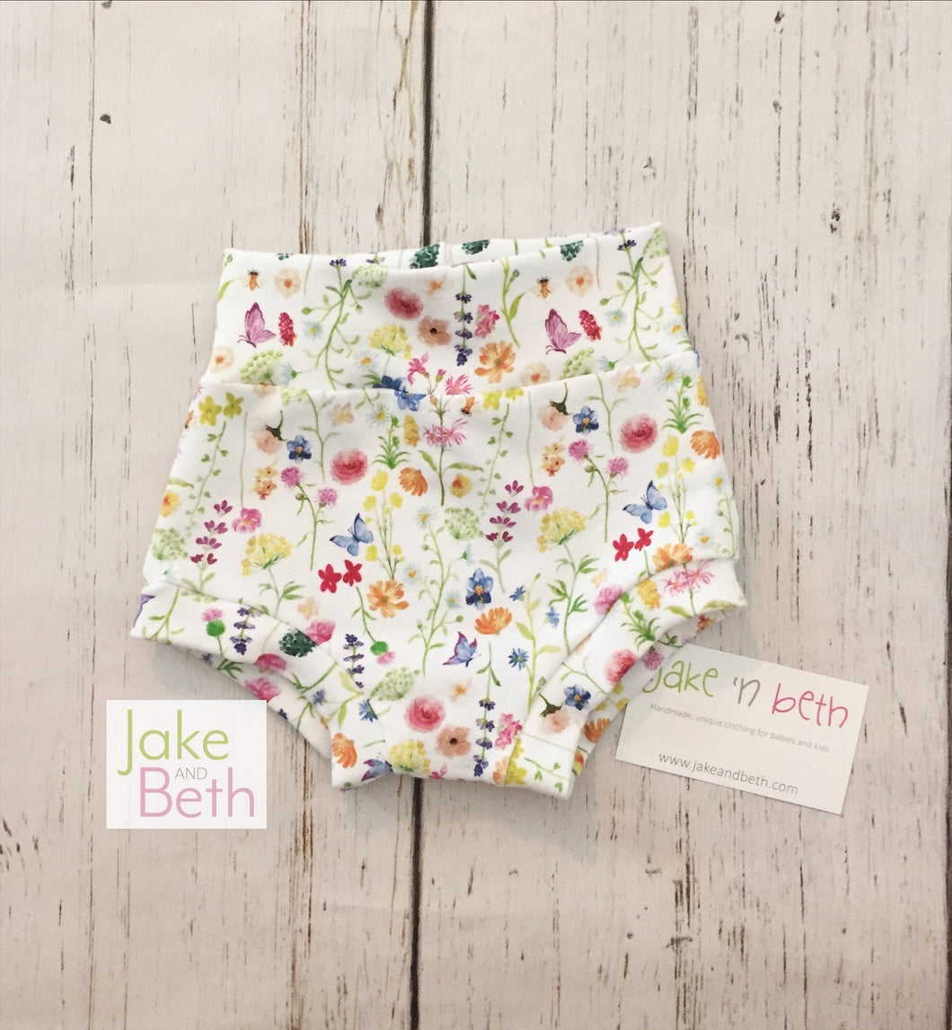 Floral baby bummies, toddler bummies