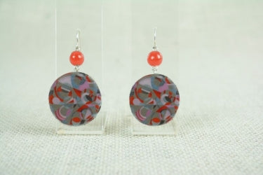DECOUPAGE HOOK EARRINGS