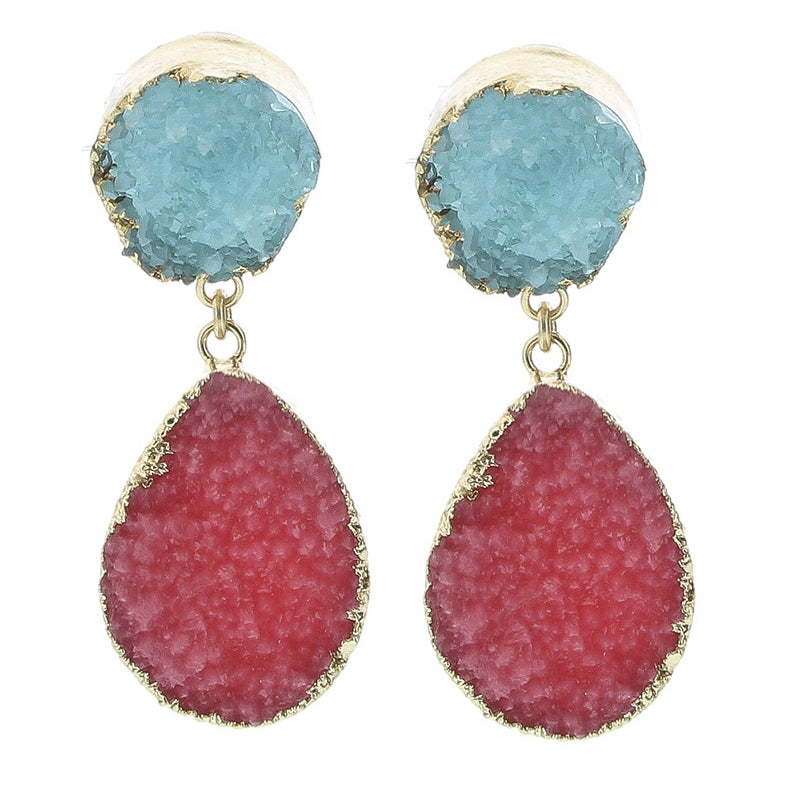 DOUBLE RESIN LAVA EARRINGS COM1