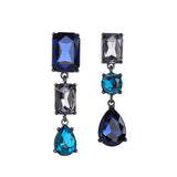 THREE GEM DROP EARRINGS