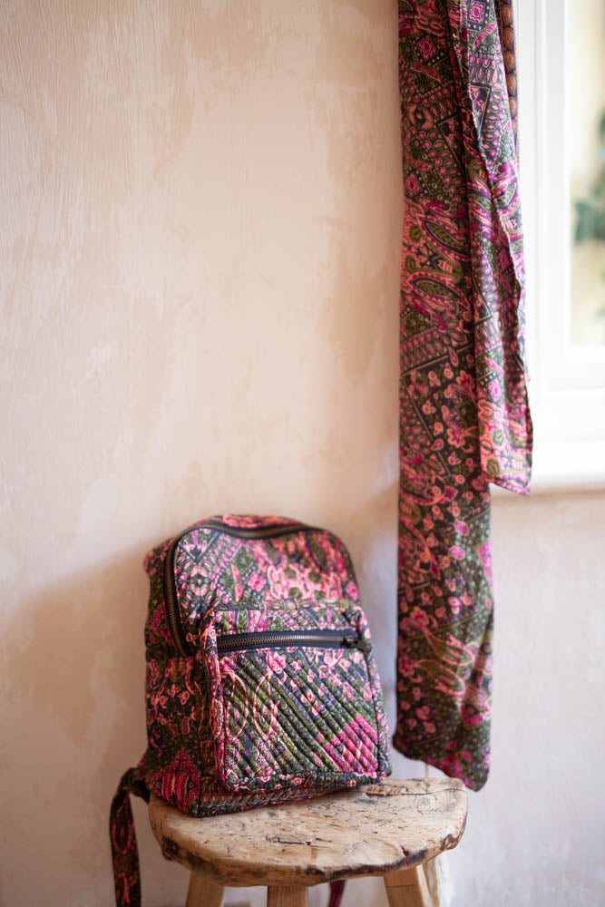 SILK QUILTED BACKPACK