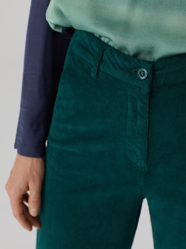MICROCORDUROY CAPRI PANTS