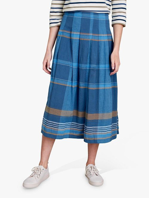 BISCORNU CHECK SKIRT