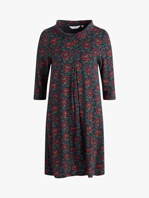 ETCHING INK BOAT NECK DRESS
