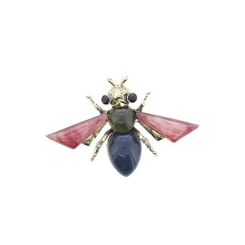 LARGE RESIN FLY BROOCH