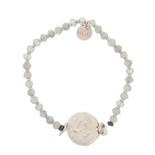 STRETCH BEAD BRACELET WITH COIN