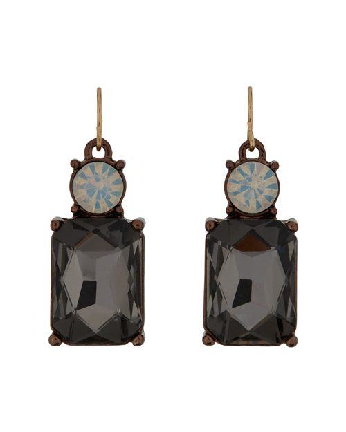 SLATE GREY WITH OPAL TOP EARRINGS