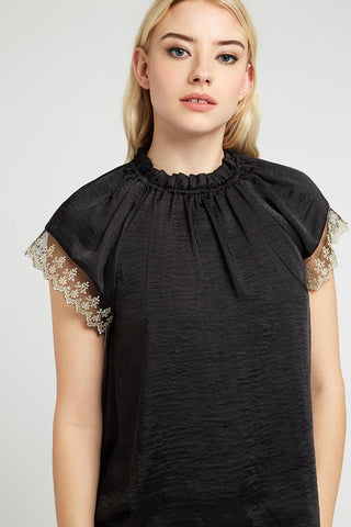 LEA LACE TRIM TOP