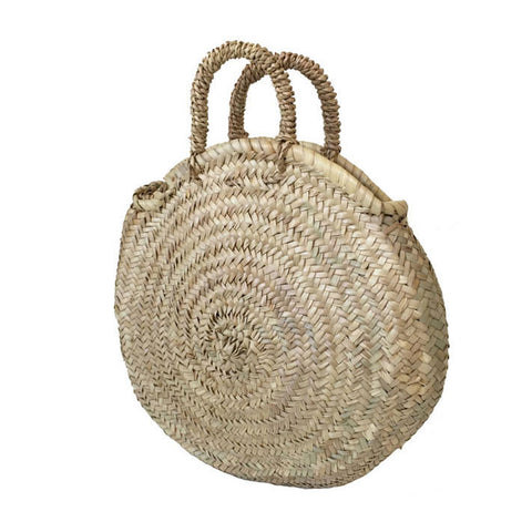 ROUND PALM HANDLE BASKET