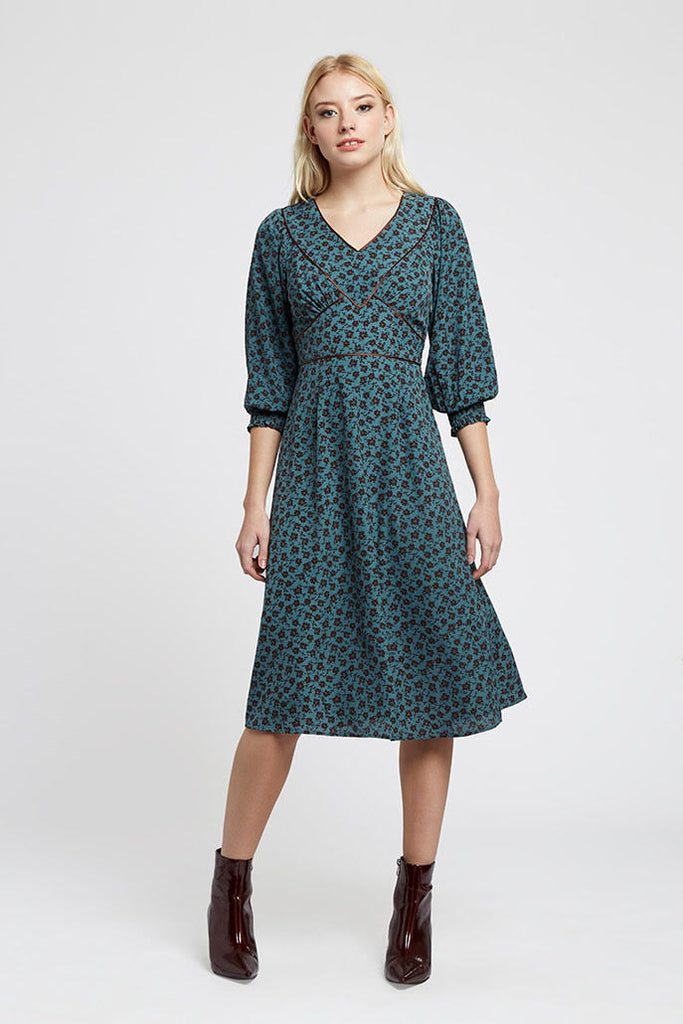 LORETTA RAMBLER MIDI DRESS