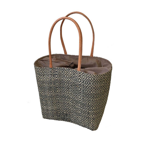 DIAMOND DRAWSTRING BASKET
