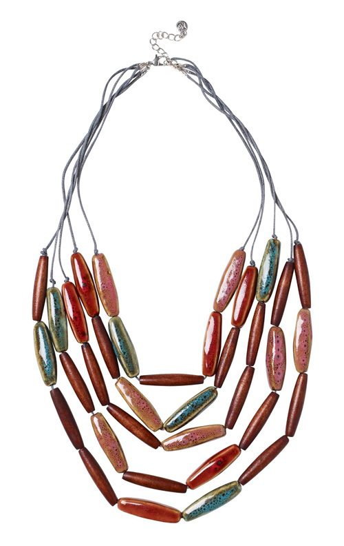 LAYERED CERAMIC NECKLACE