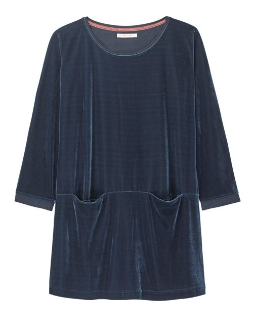 MAGICAL JERSEY AND VELVET TUNIC