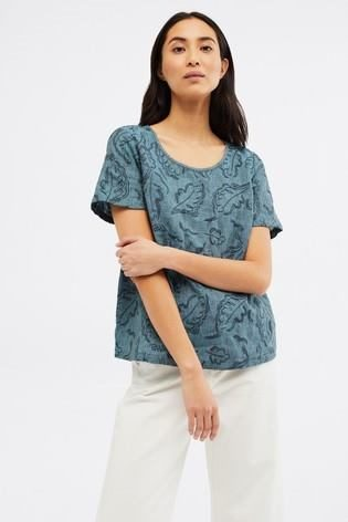 PAINTBRUSH LINEN TOP