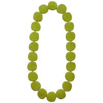LARGE GREEN CIRCLES NECKLACE