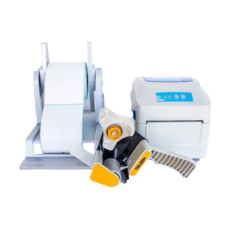 Shipping Starter KIT: GPrinter GP-1324D Direct Thermal Printer (3 Months Warranty) + 700 PCS A6 Thermal Paper Sticker + Tolsen Tape Gun Dispenser + Roll Tape + Thermal Sticker Roll Stand - Weremote