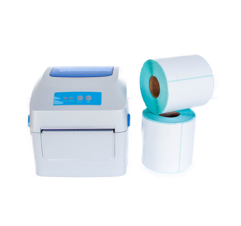 Thermal Label Printer with 2x rolls of thermal paper - Weremote