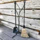 Unique Hand Forged Fireplace Tool Set - Charity Ironworks