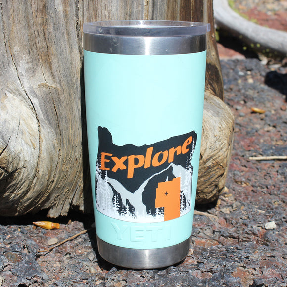 Explore Harney County Silhouette Sticker