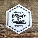 Gateway To Oregon's Outback Hexagon Sticker