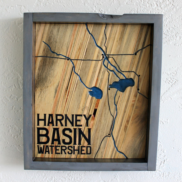 Blue Stain Pine Harney Basin Watershed Map