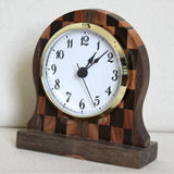 Checkered Black Walnut and Juniper Desk Clock