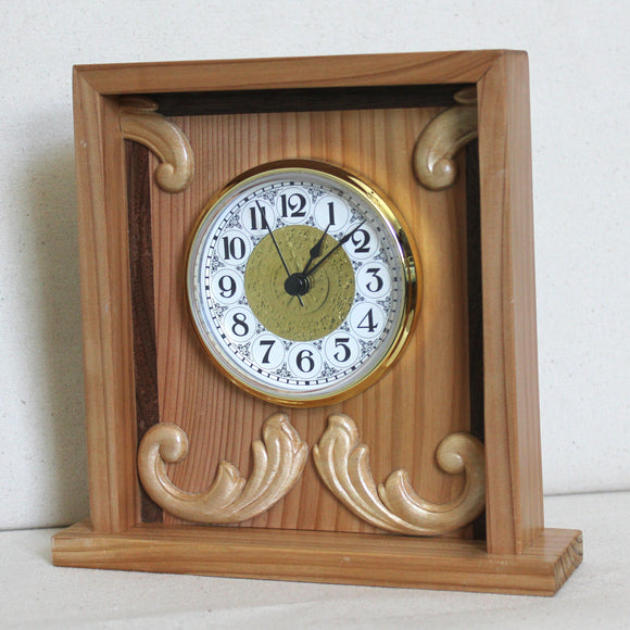 Cedar and Black Walnut Inlaid Box Clock