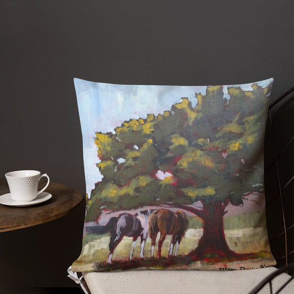 Horses Shaded Up-Premium Pillow