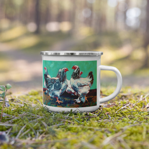 Pullet Surprise Enamel Mug