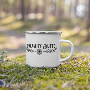 Calamity Butte Guide Services Simple Logo Enamel Mug