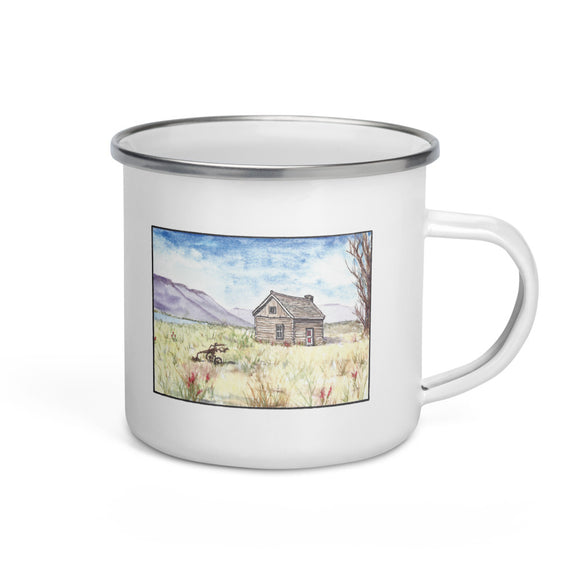 Magnus Sparrow Cabin Watercolor Enamel Mug