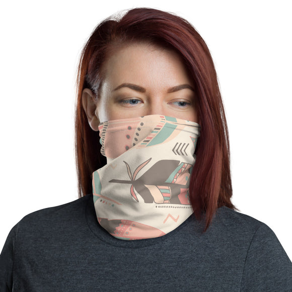 Boho Chic Feather Neck Gaiter