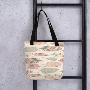 Boho Chic Feather Tote bag