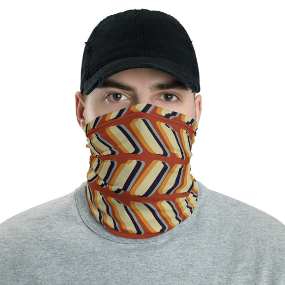 Retro Red Herringbone Neck Gaiter
