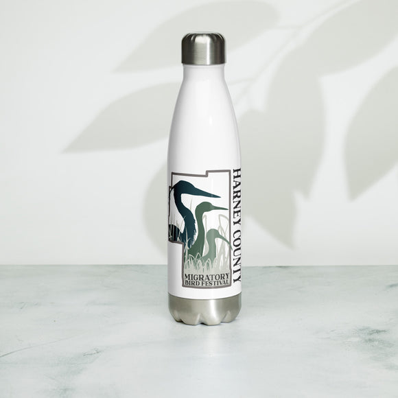 Migratory Bird Festival Logo Stainless Steel Water Bottle