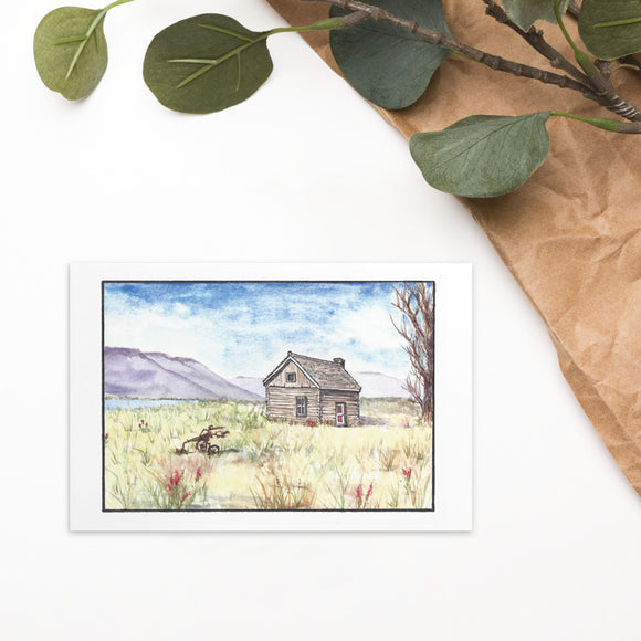 Magnus Sparrow Cabin Watercolor Standard Postcard