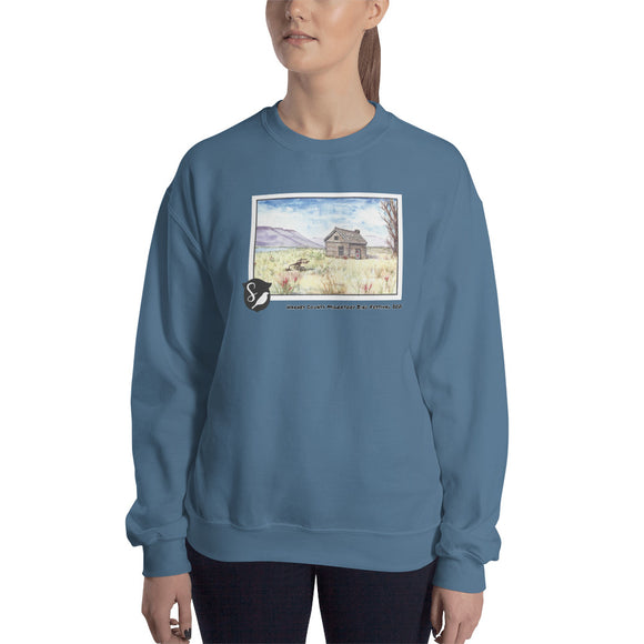 Magnus Sparrow Cabin Watercolor Unisex Sweatshirt