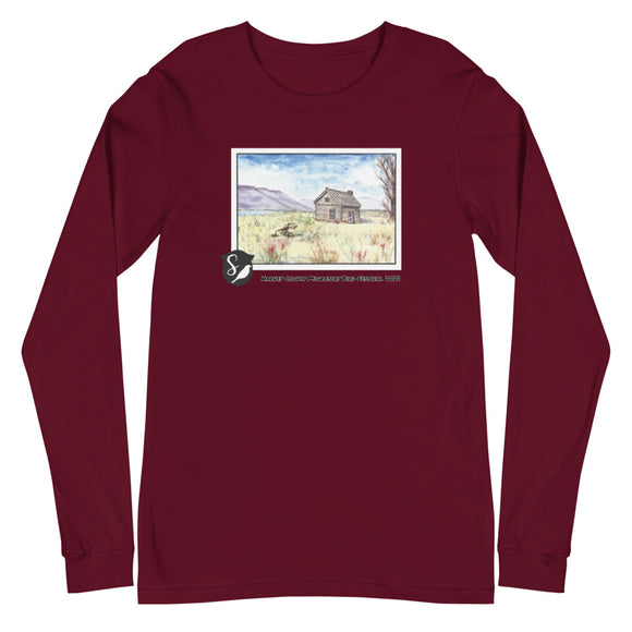 Magnus Sparrow Cabin Watercolor Unisex Long Sleeve Tee